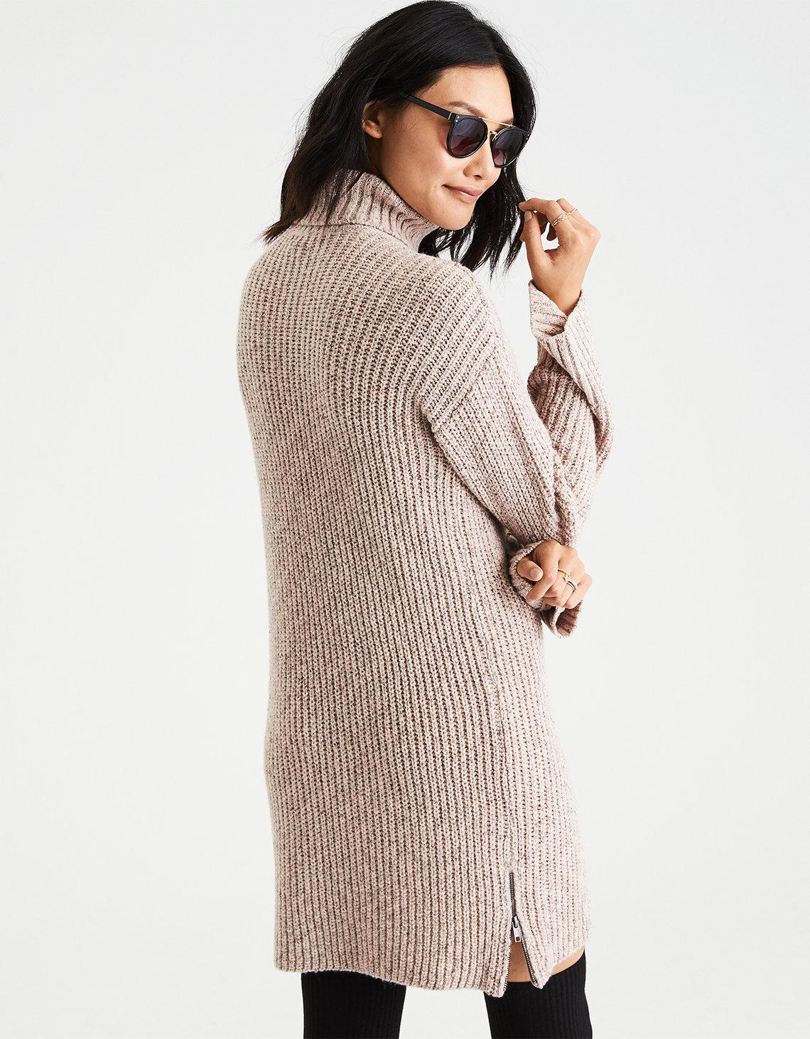 1d2db2d5316 Lyst American Eagle Ae Ahh Mazingly Soft Turtleneck Sweater Dress