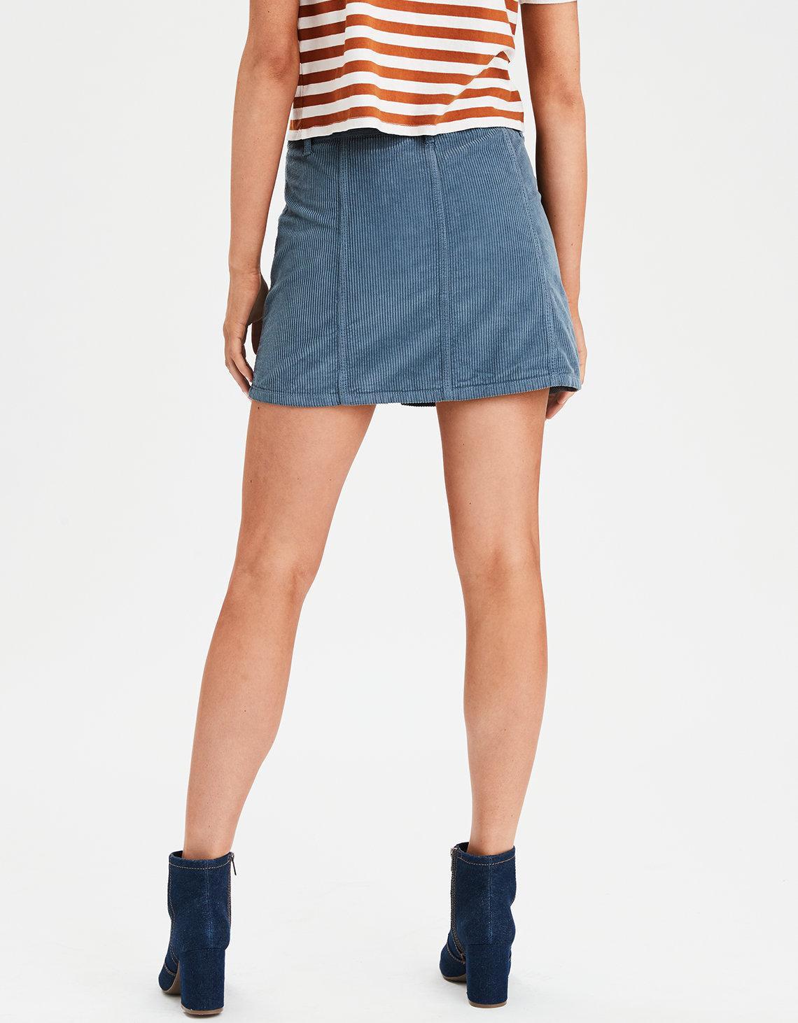 ebdde31bb American Eagle Ae High-waisted Festival Corduroy Skirt in Blue - Lyst