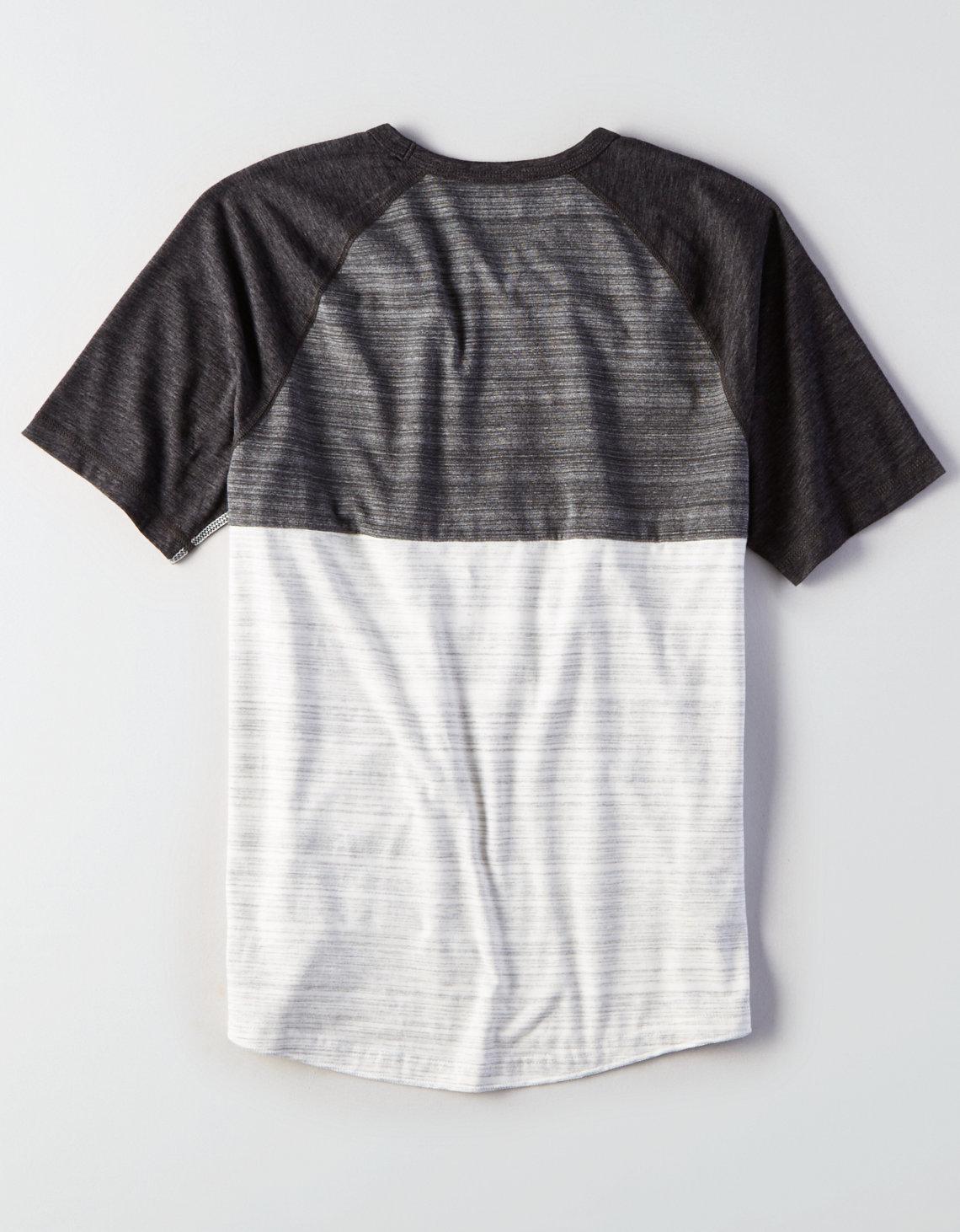 342cefdffc9b American Eagle Flex Colorblock T-shirt in Gray for Men - Lyst