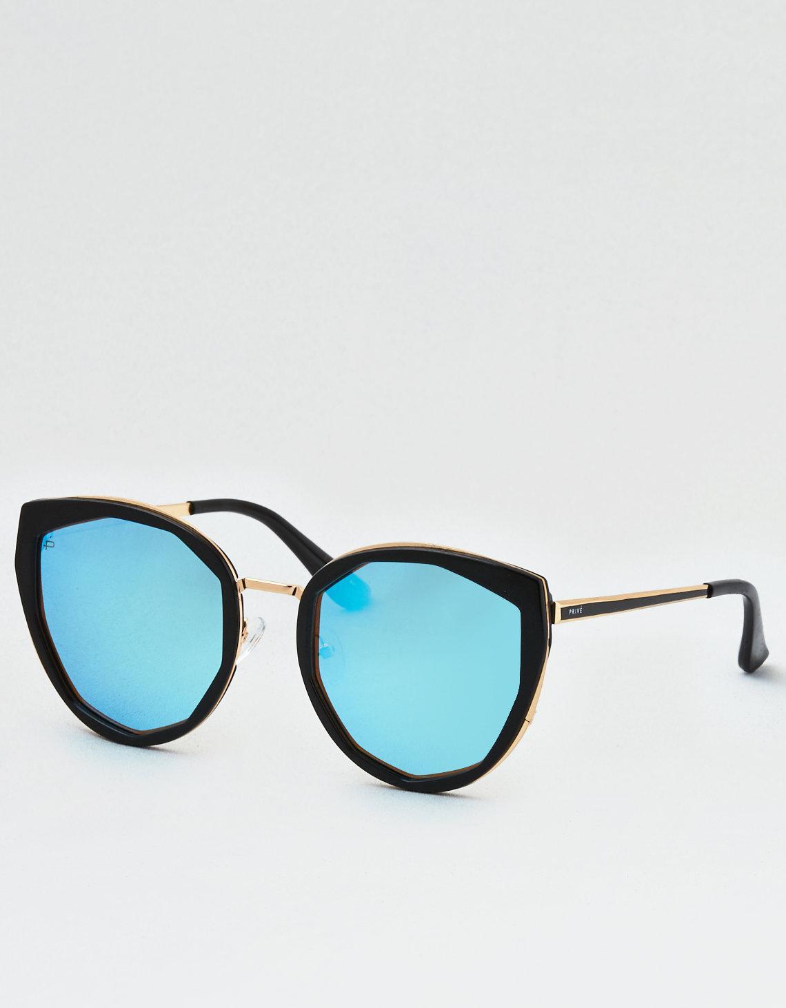7d99c1dd88 Lyst - American Eagle Privé Revaux The Artist Sunglasses in Blue