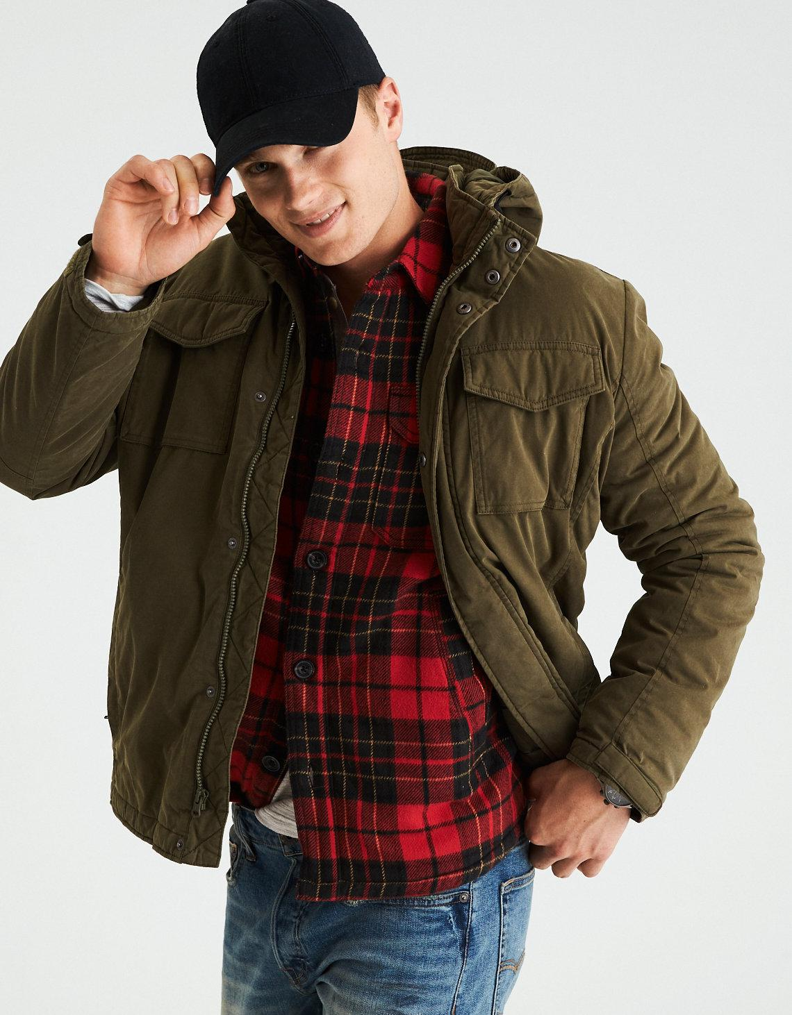 Rakuten Chions Victory Memorial セールアメリカンイーグル Men S Military Jacket Ae Olive 2101 9427 Xs M L Xl