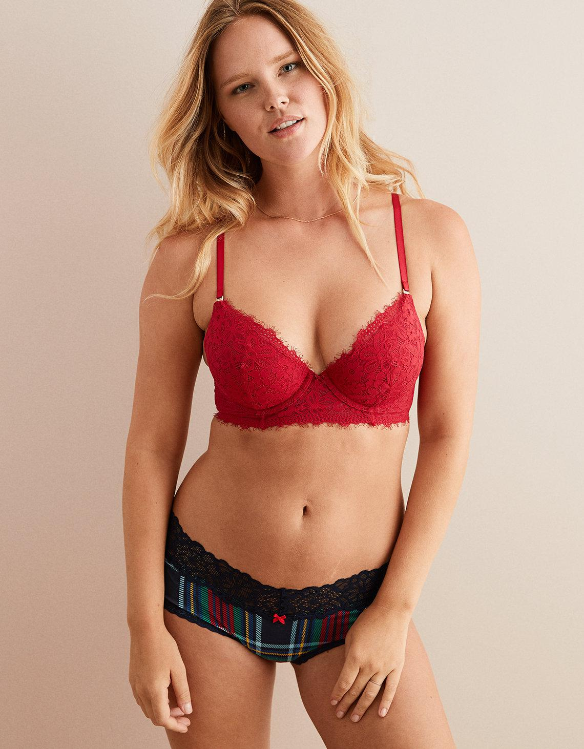 c02383a245 Lyst - American Eagle Real Power Plunge Push Up Bra in Red