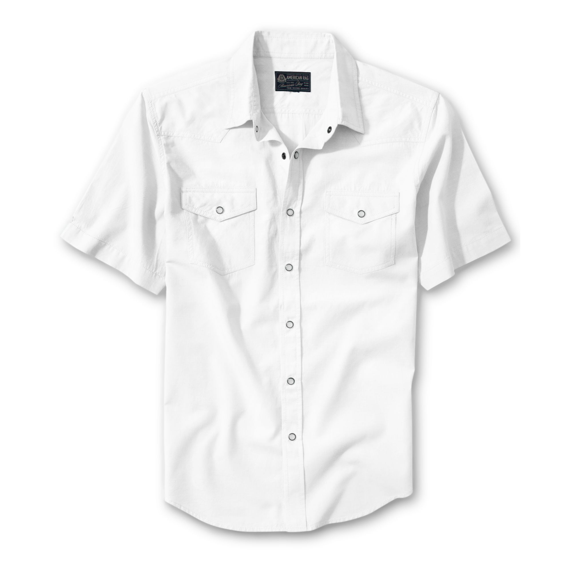 American rag Shortsleeve Buttondown Shirt in White for Men | Lyst