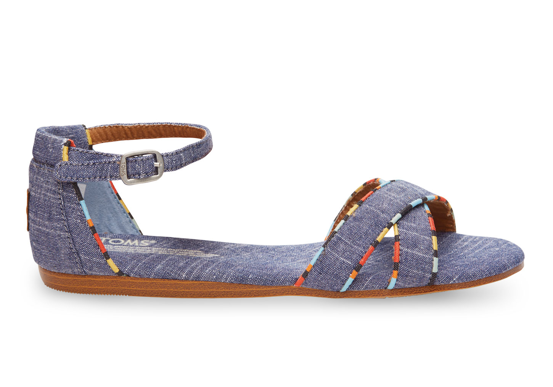 da4e1d491947 Lyst - TOMS Chambray Women s Correa Sandals in Blue