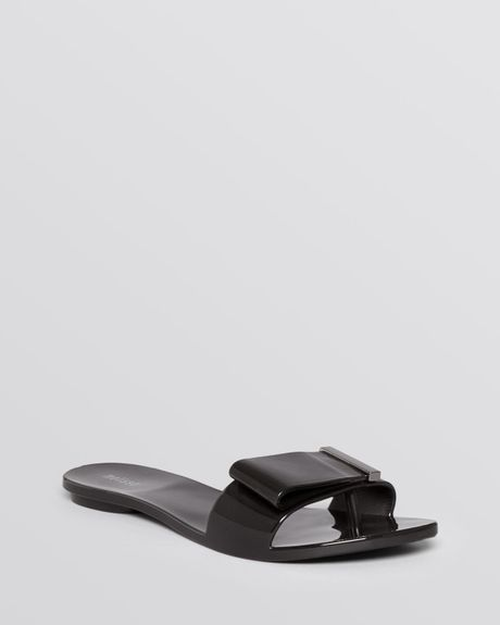 flat jelly sandals lovely in black lyst