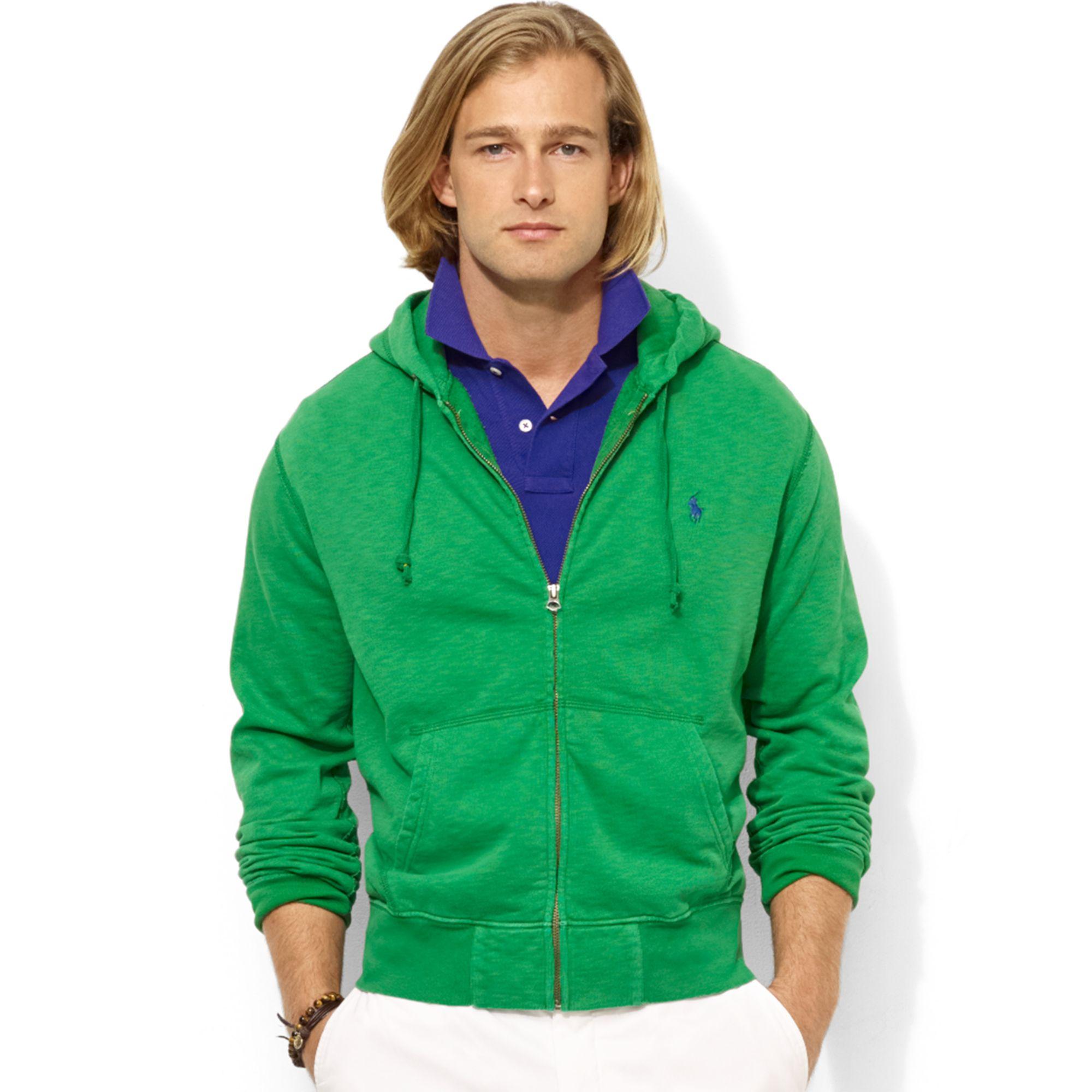 Ralph Lauren Chevron Men Navy Hoody Darkgreen. Ralph lauren Zipfront Fleece Hoodie in Green for Men (Green Grass) | Lyst