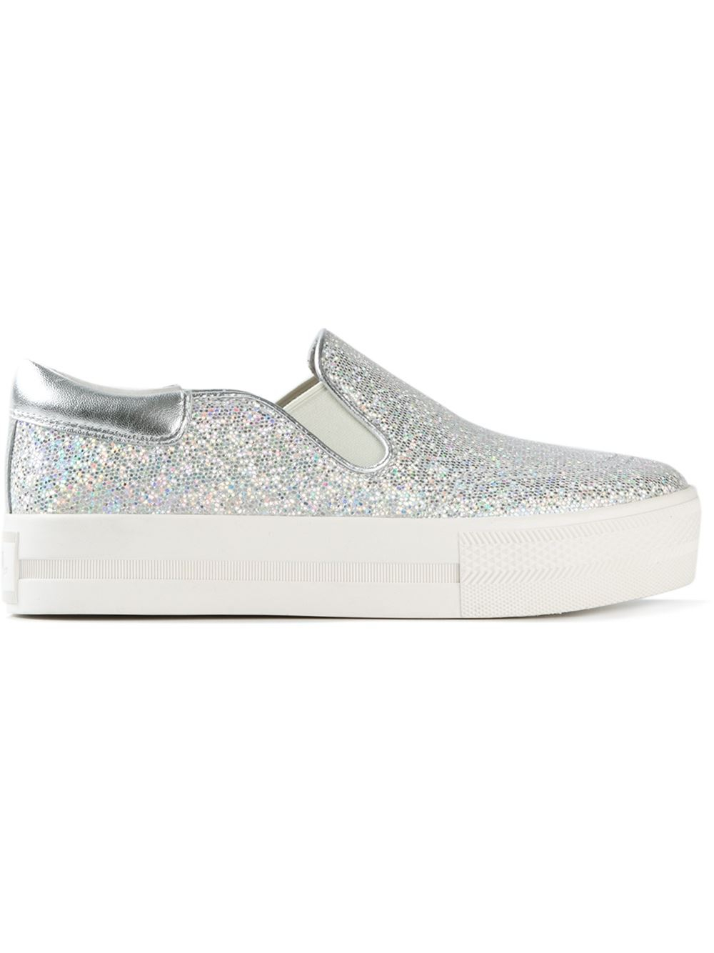 6246b8ebe91e Lyst - Ash Glitter Slip-On Sneakers in Metallic