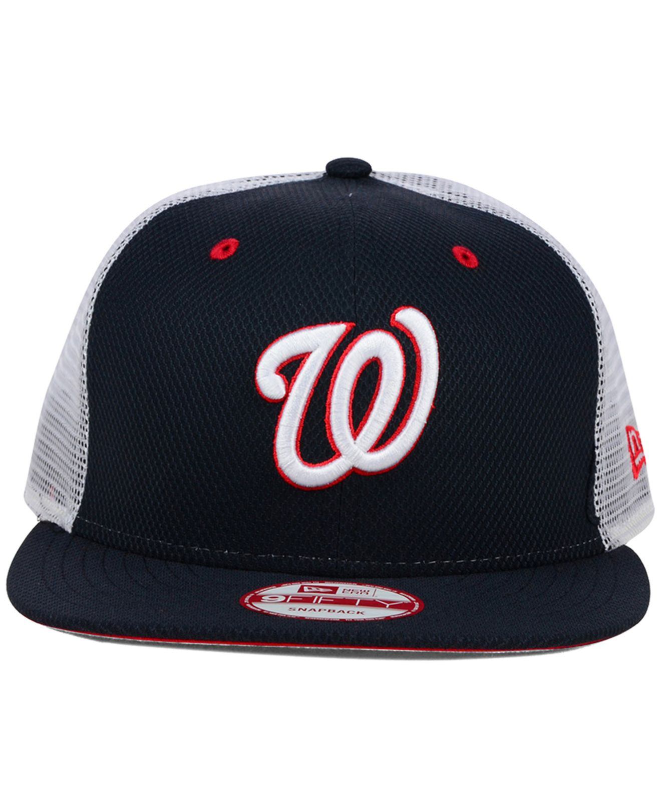 newest ab40f dadee KTZ Washington Nationals Diamond Mesh 9fifty Snapback Cap in Blue ...