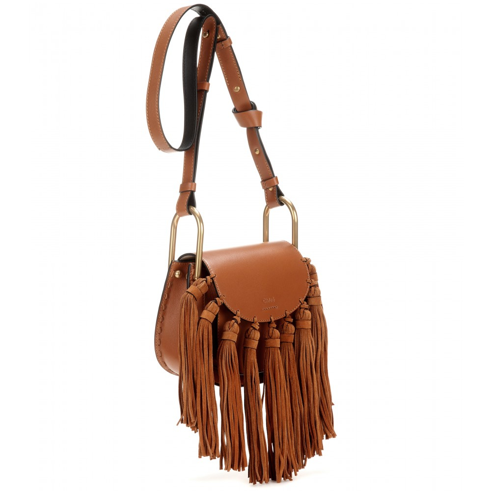 chole bags - Chlo�� Mini Hudson Leather Shoulder Bag in Brown (caramel height ...