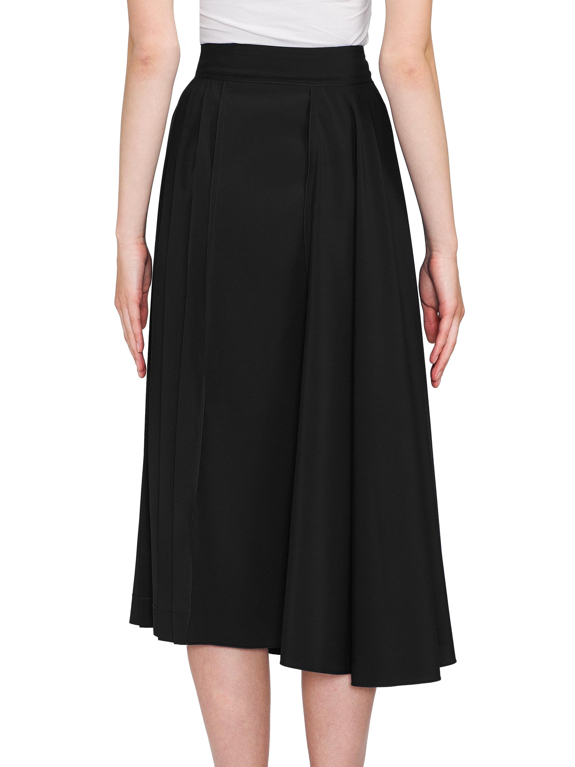 marni pleated midi skirt in black lyst