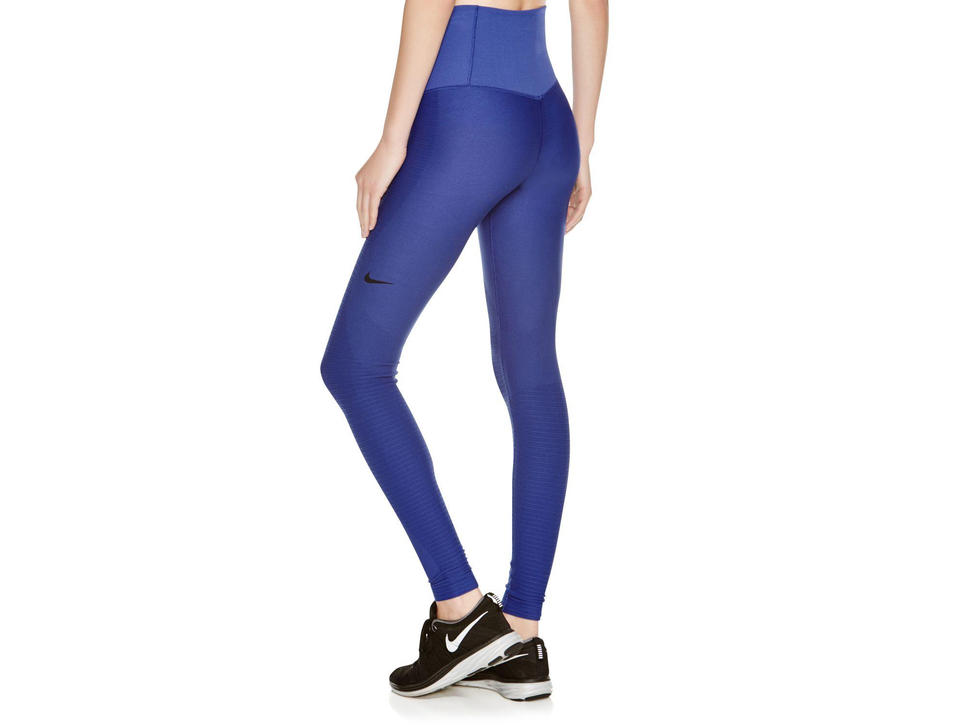 bf7b4016f61ae Nike Zoned Sculpt Leggings in Blue - Lyst
