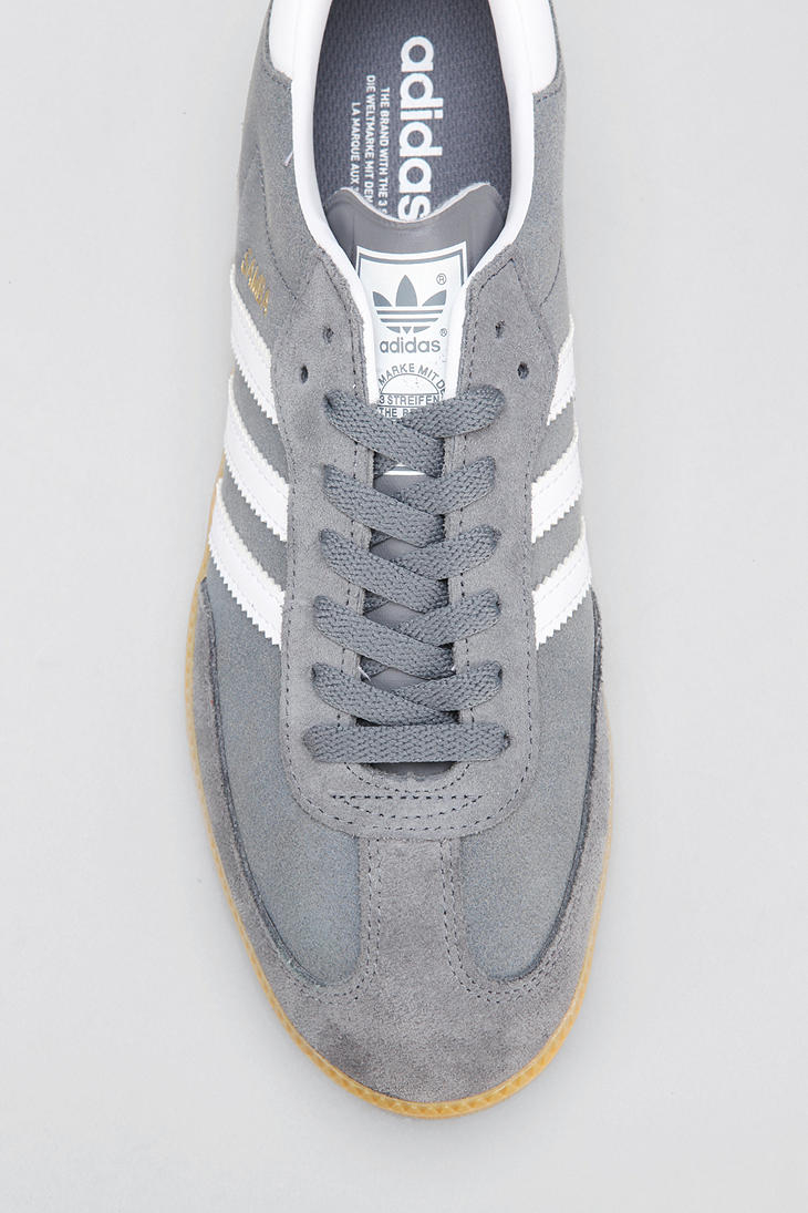 lyst urban outfitters adidas samba suede sneaker in gray Extra Gum Clip Art extra chewing gum logo