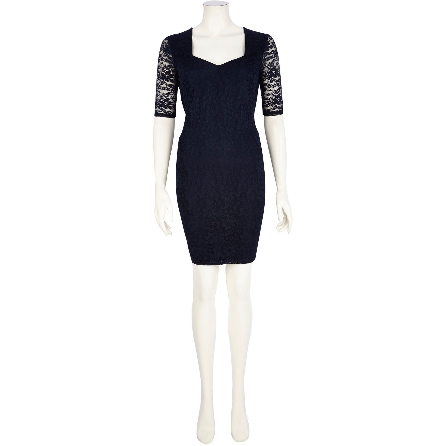 River Island Navy Half Sleeve Lace Bodycon Dress in Blue - Lyst af11ffdb2