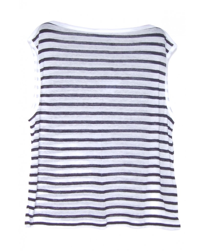 Lyst T By Alexander Wang Navy And White Stripe Linen