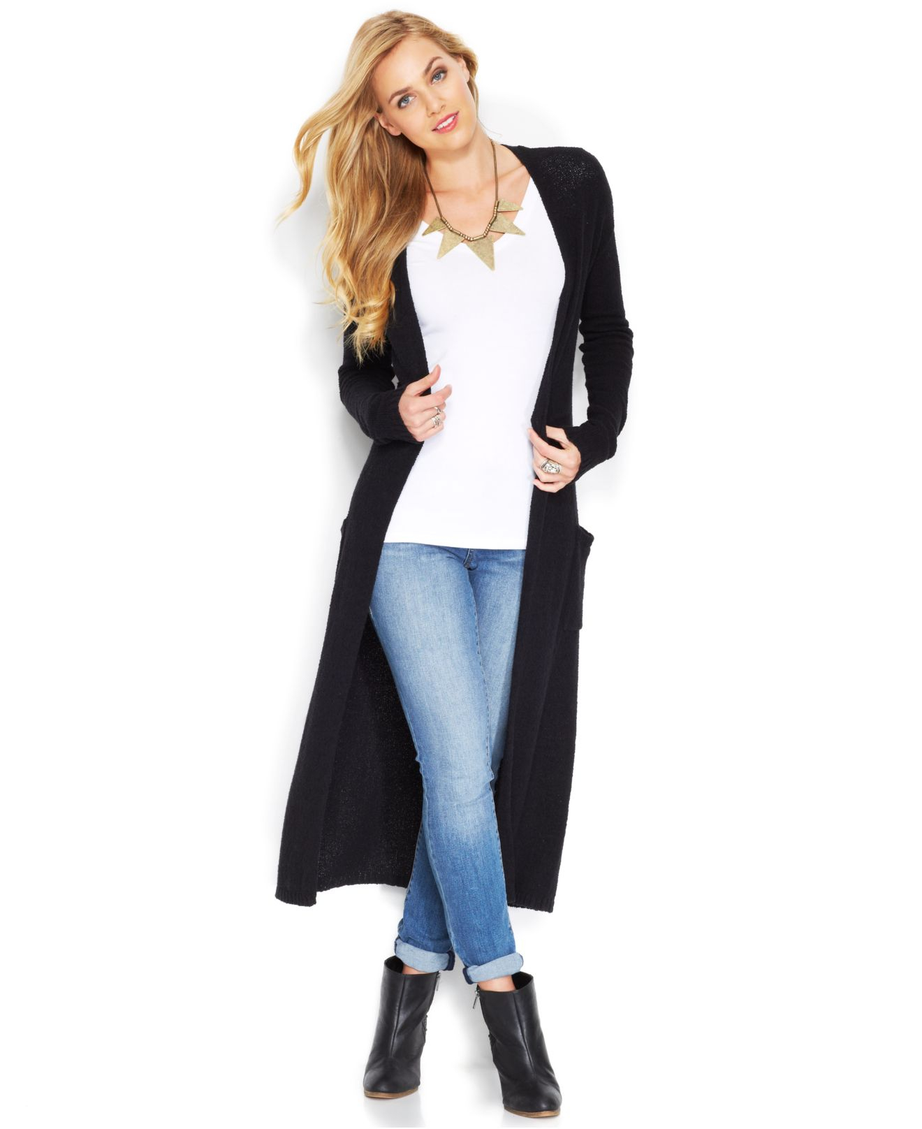 Lucky brand Lucky Brand Stella Long-Sleeve Duster Cardigan in ...