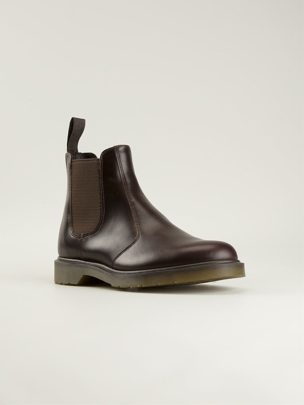 dr martens chelsea style boots in brown for lyst