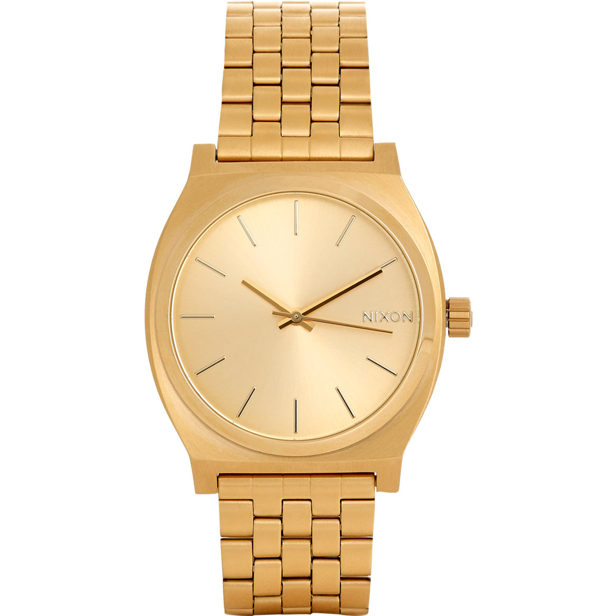 nixon time teller in gold for lyst