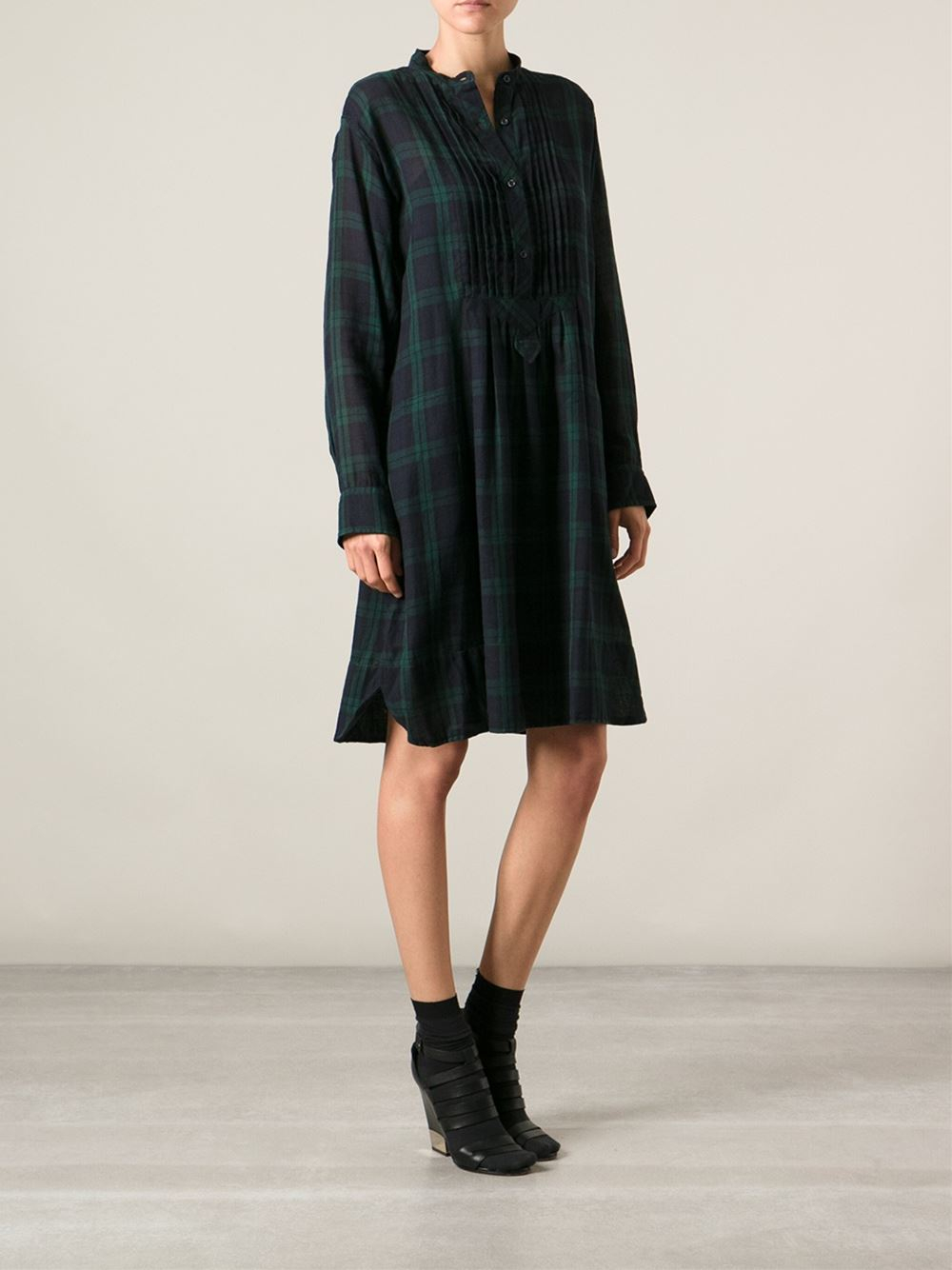 Lyst Toile Isabel Marant Tartan Shirt Dress In Blue