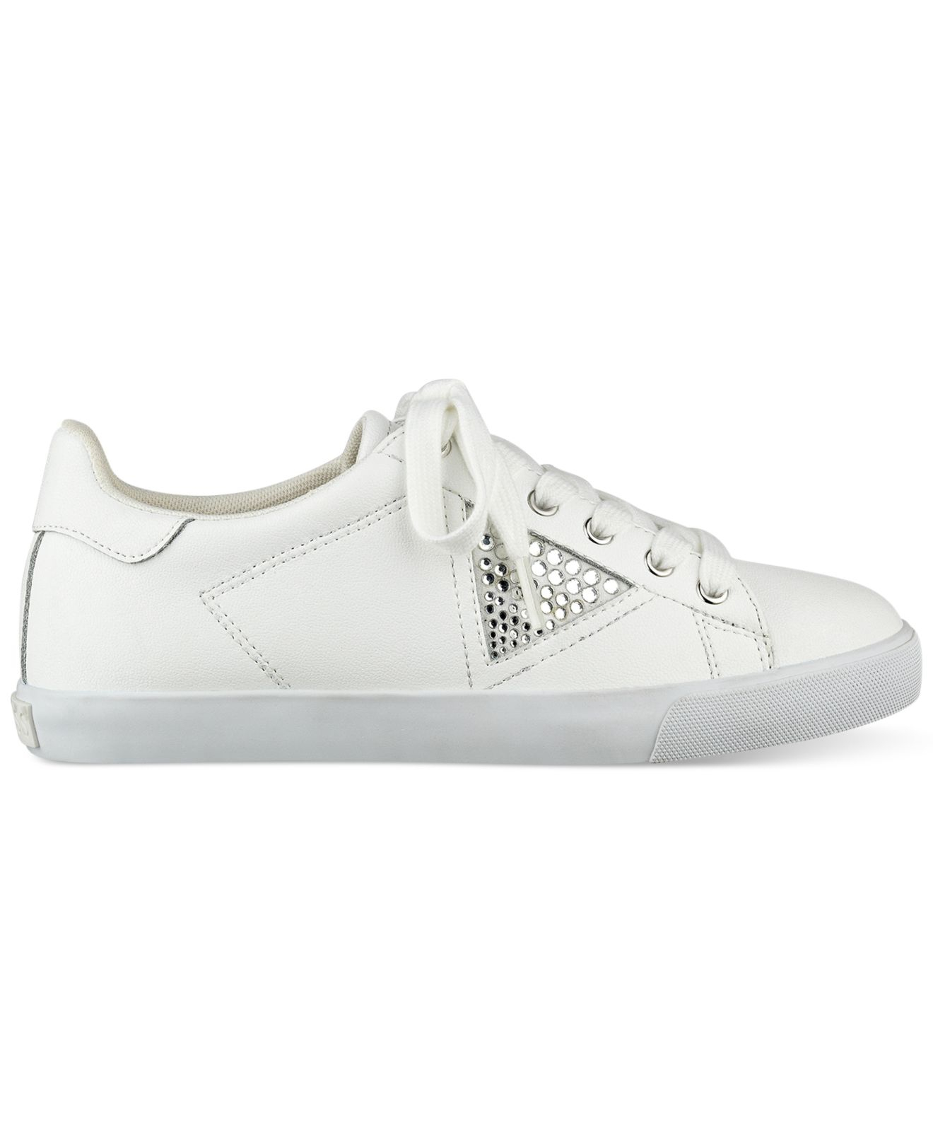 guess s marline sneakers in white lyst