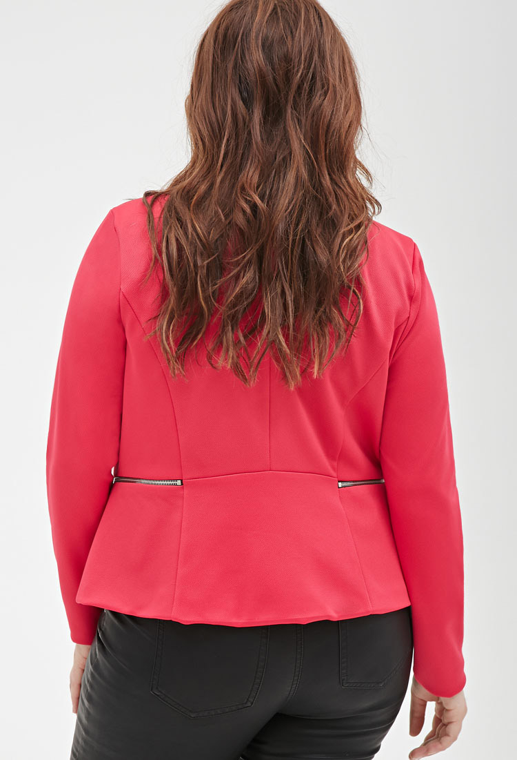 fa6352623 Forever 21 Plus Size Zippered Open-front Jacket You've Been Added To ...