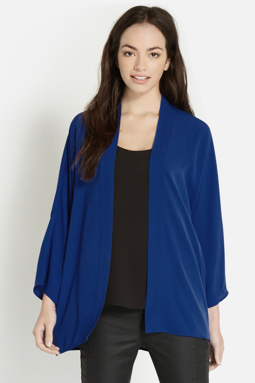Oasis Plain Kimono Jacket in Blue | Lyst