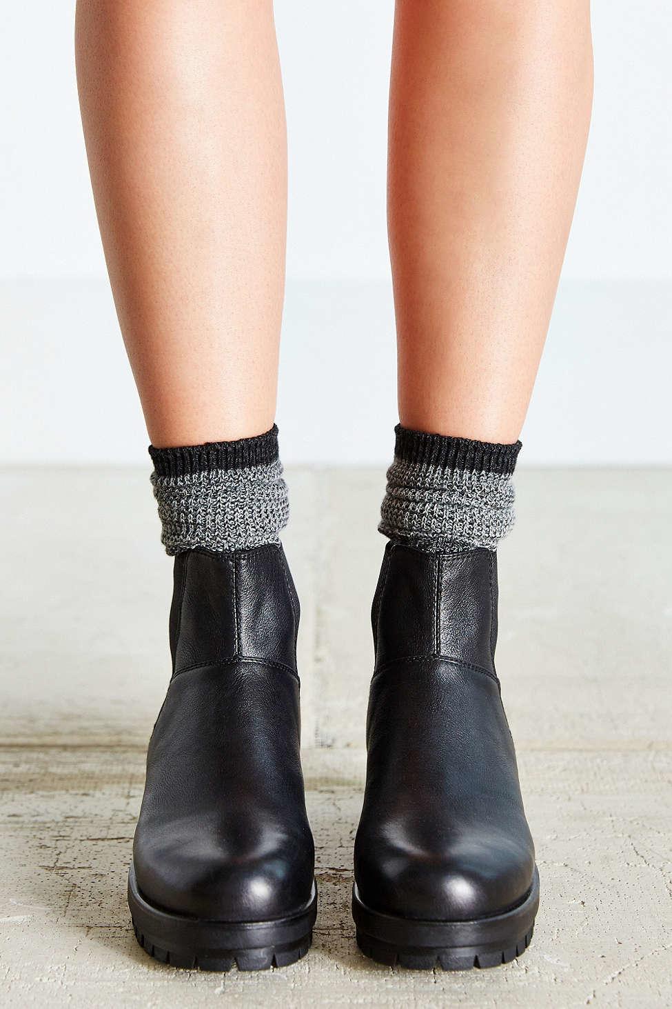 vagabond kayla platform chelsea boot in black lyst. Black Bedroom Furniture Sets. Home Design Ideas