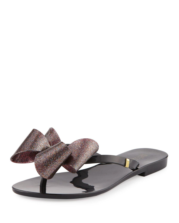 48756417ba48f Lyst - Melissa Harmonic Bow Jelly Thong Sandal in Black