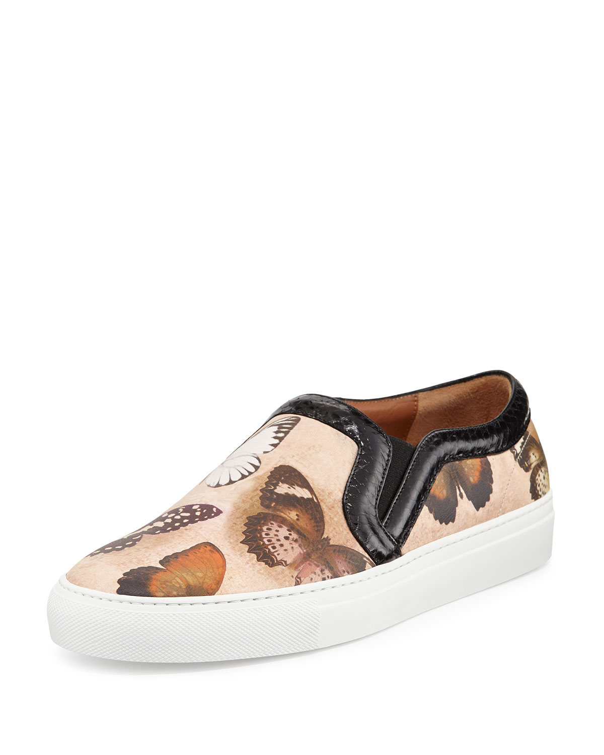 givenchy butterfly print leather skate shoe in brown lyst