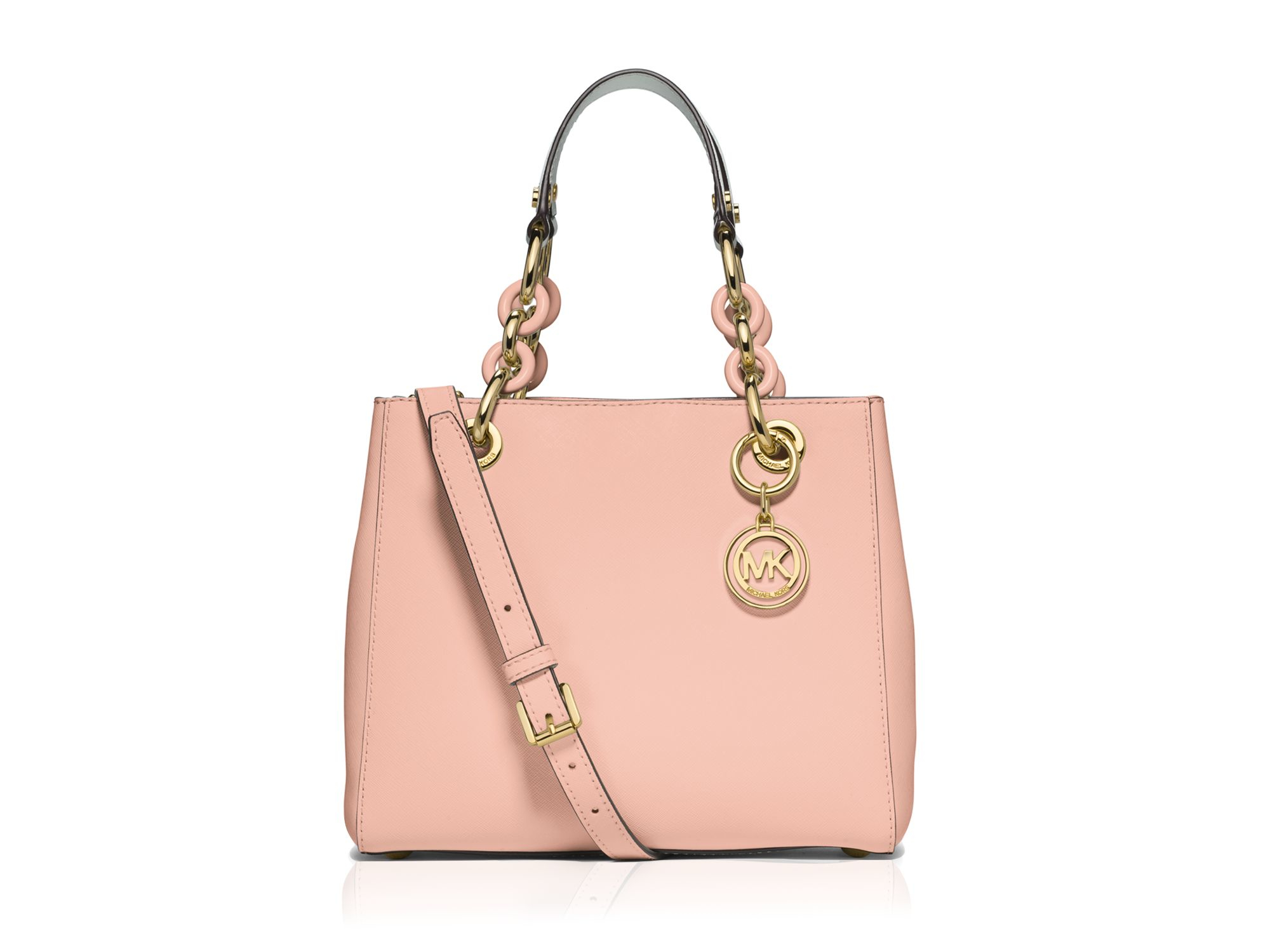 461086d690cd ... denmark lyst michael michael kors satchel small cynthia saffiano in pink  f2f2d 6c303