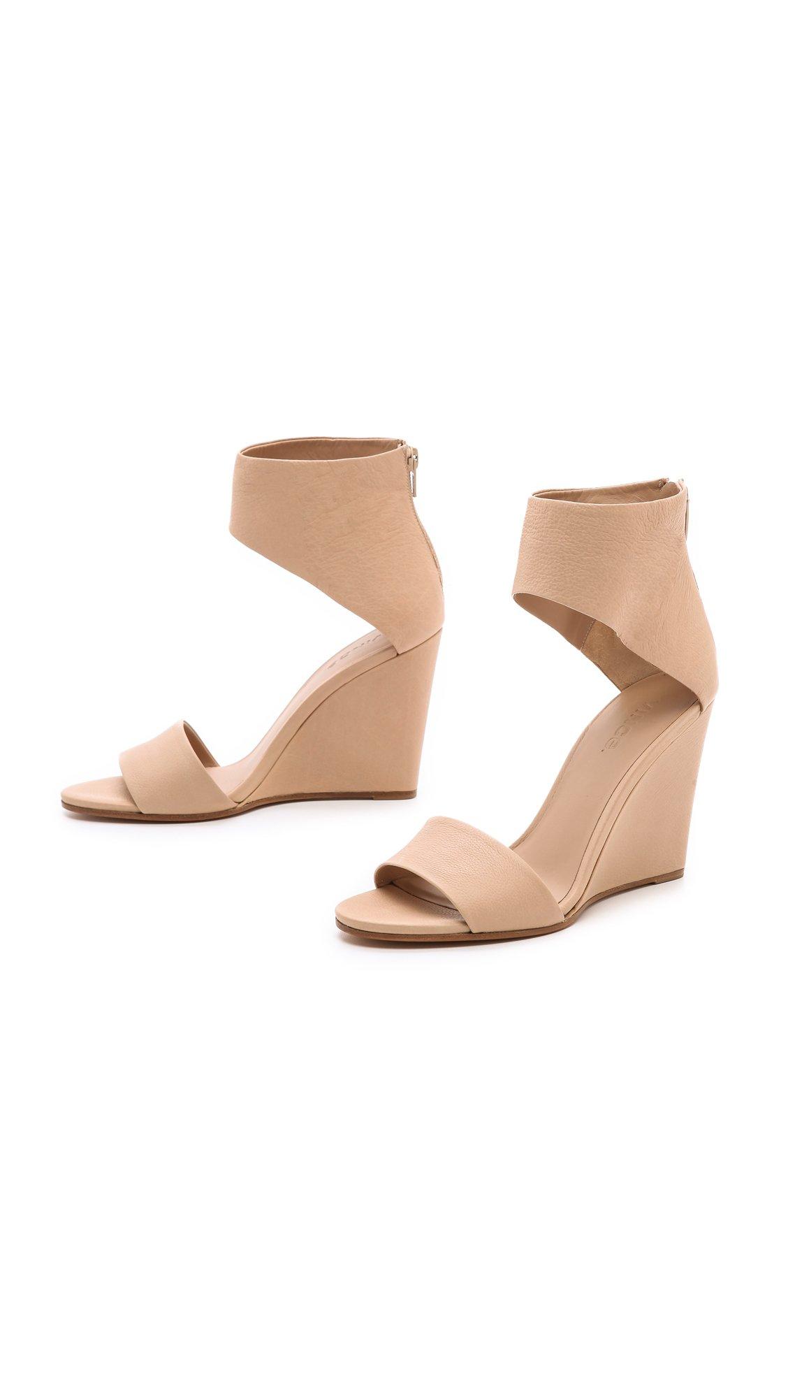 7d44e194c Lyst - Vince Kelan Wedge Sandals in Natural
