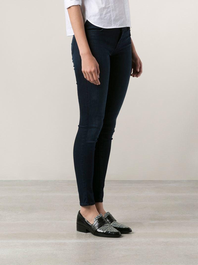 lyst j brand stocking jeans in blue. Black Bedroom Furniture Sets. Home Design Ideas
