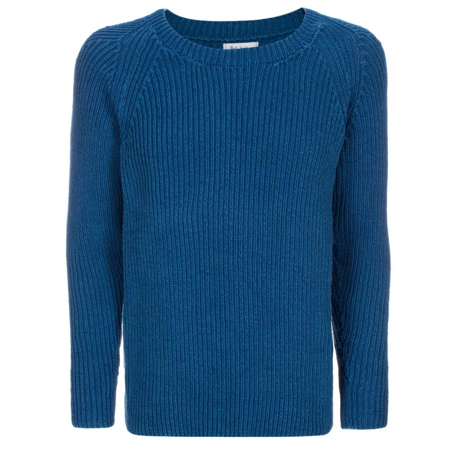 Paul smith Hand-Knitted Cotton Sweater in Blue for Men | Lyst