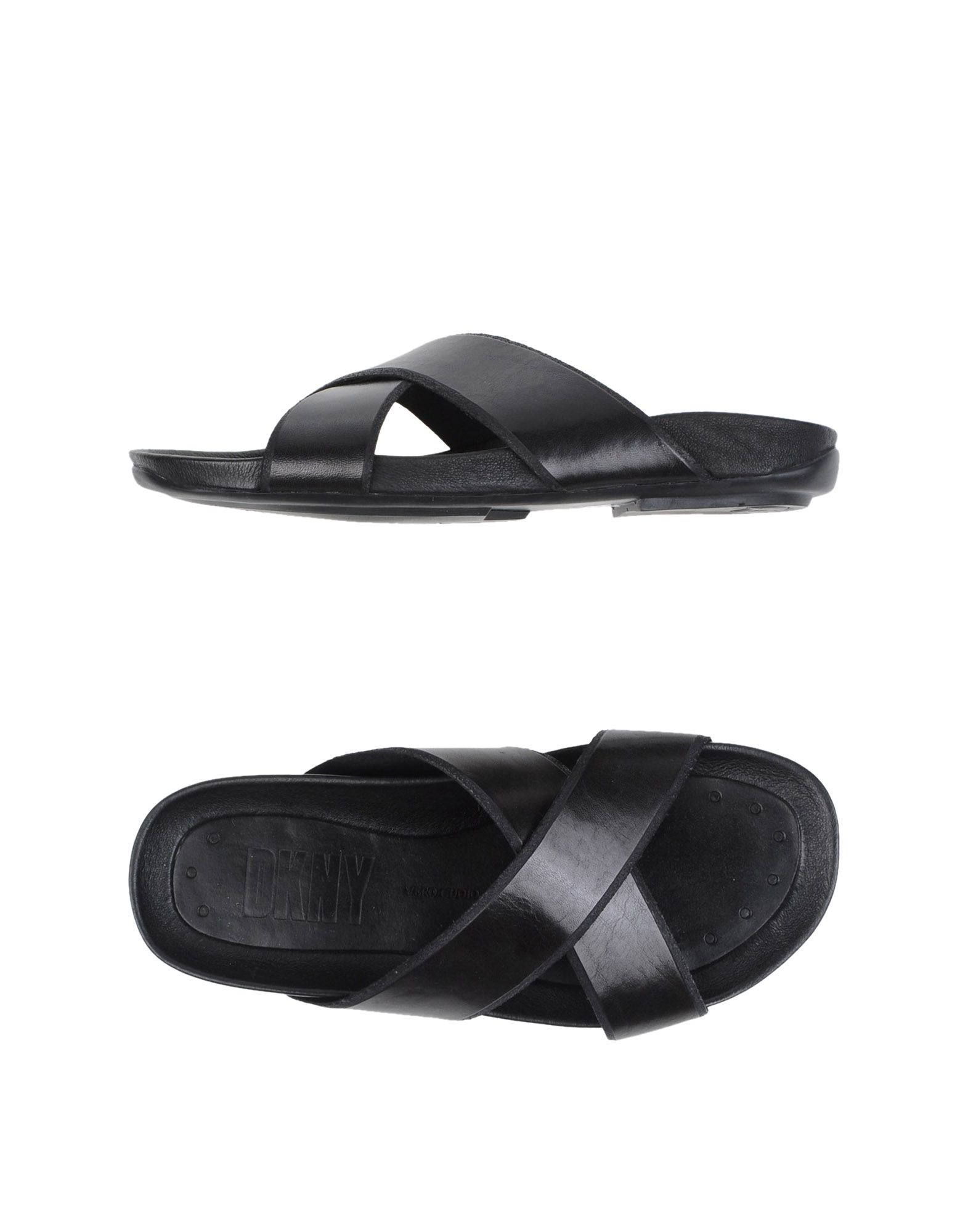 lyst dkny sandals in black for men