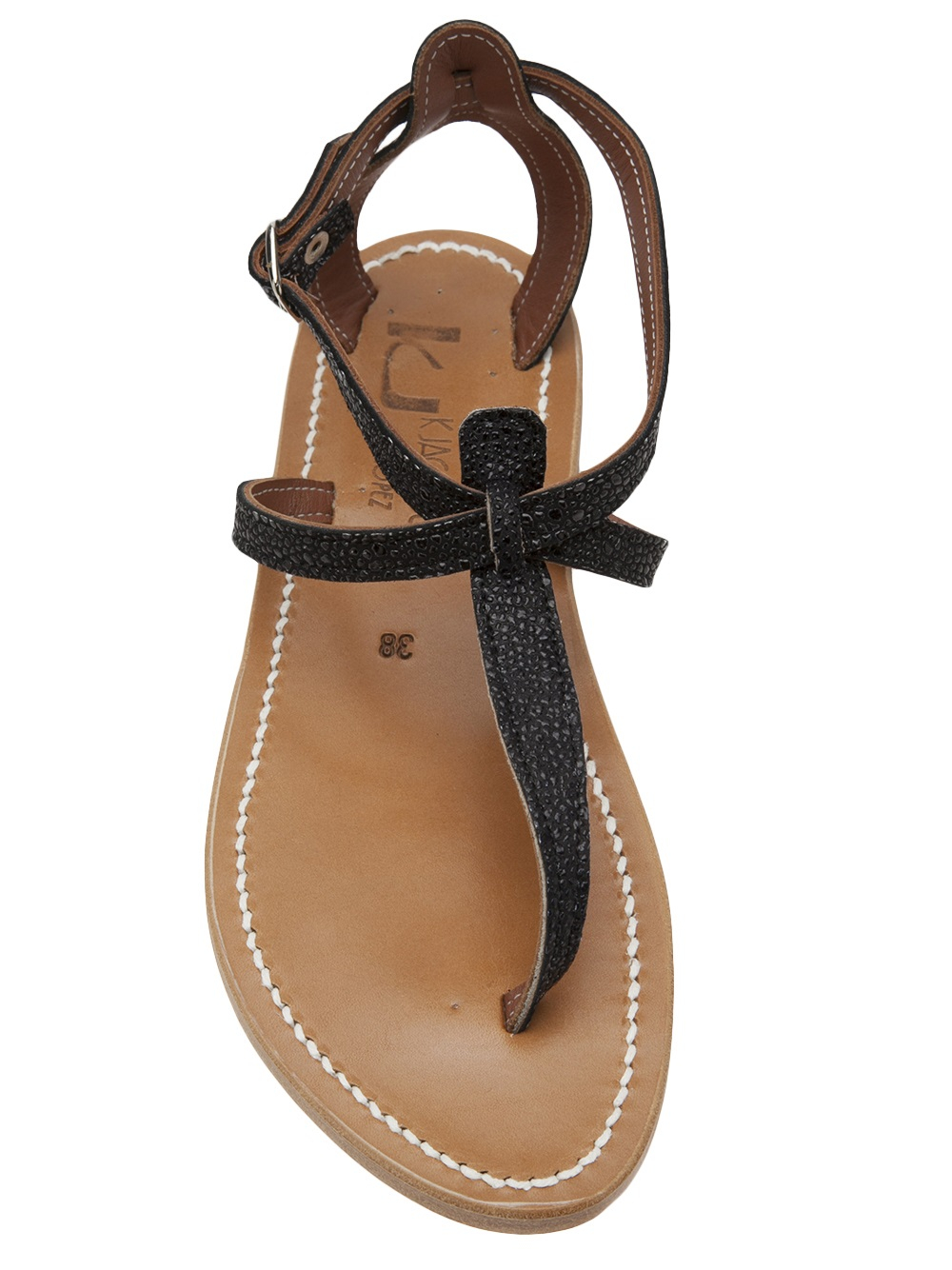 77a7b4f2d4ac Lyst - K. Jacques The Buffon Sandal in Black