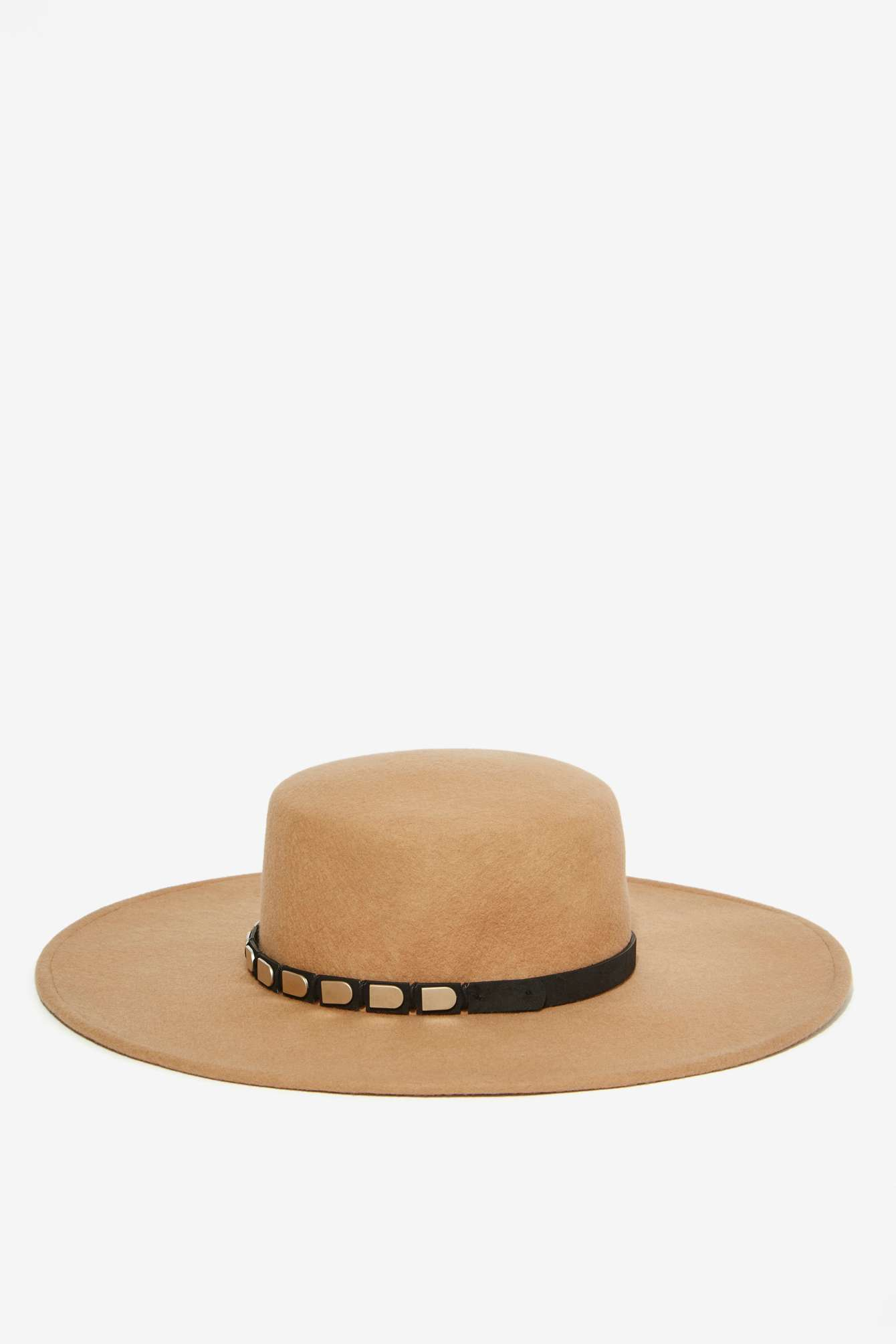 9ac0561378417 Lyst - Nasty Gal Janelle Boater Hat - Camel in Natural
