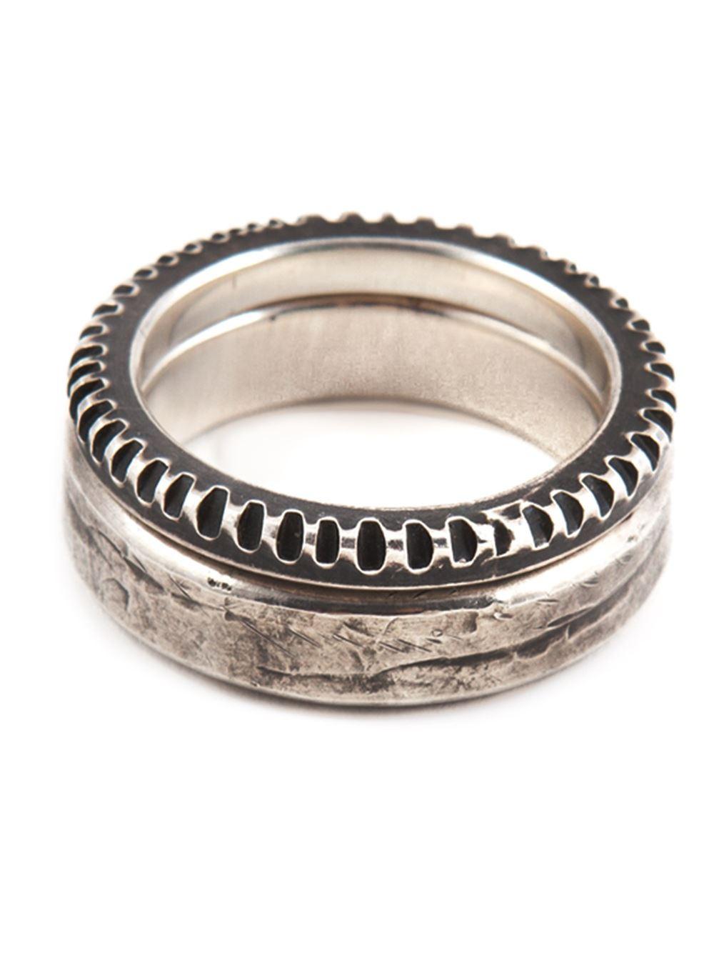 embossed ring set - Metallic Werkstatt M V4L9CrEbQB