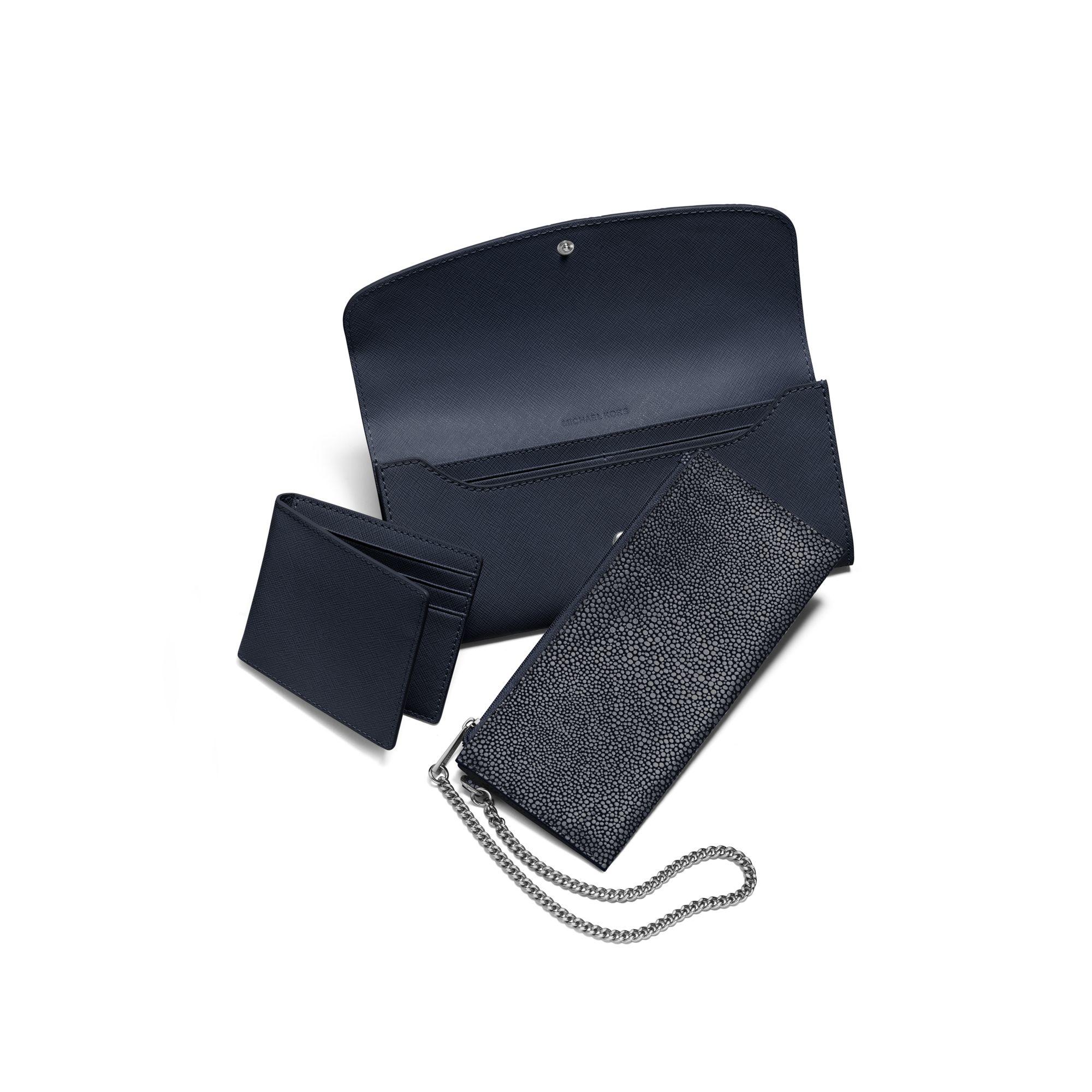 88abff3ecb83 Lyst - Michael Kors Juliana Large 3-in-1 Saffiano Leather Wallet in ...