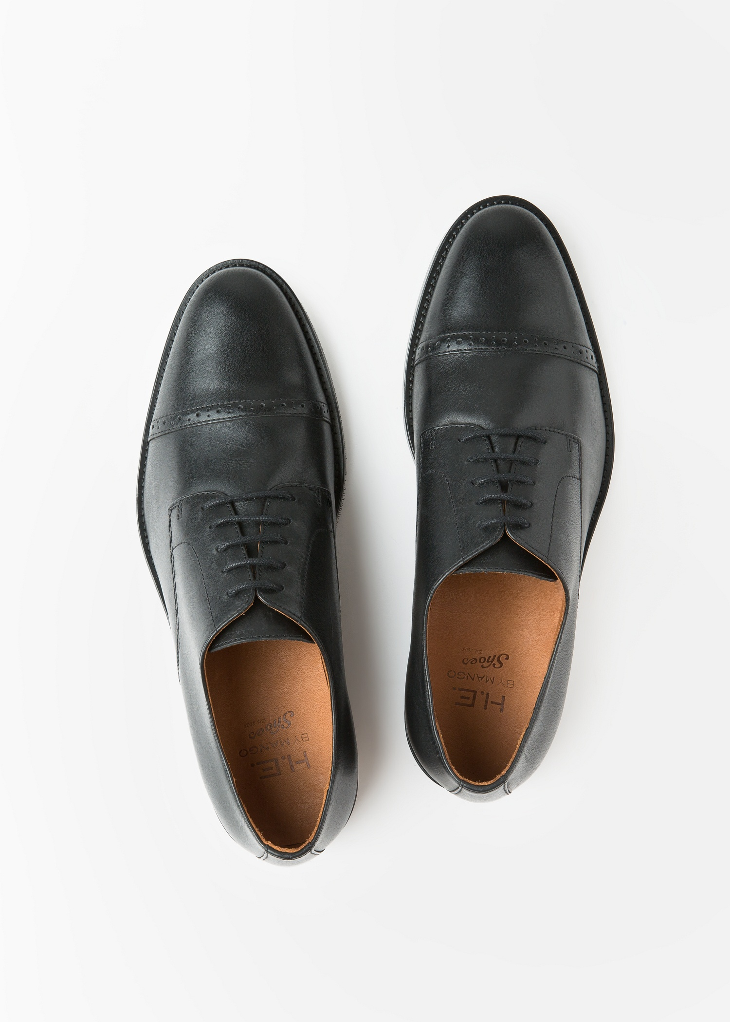 MANGO Leather Oxford shoes EvPKID