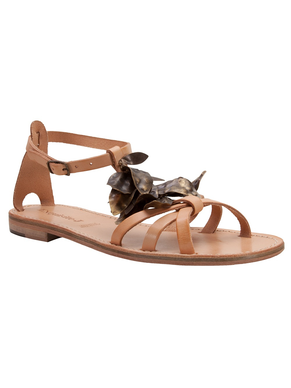 Lyst Exquisite J Strappy Sandal In Brown