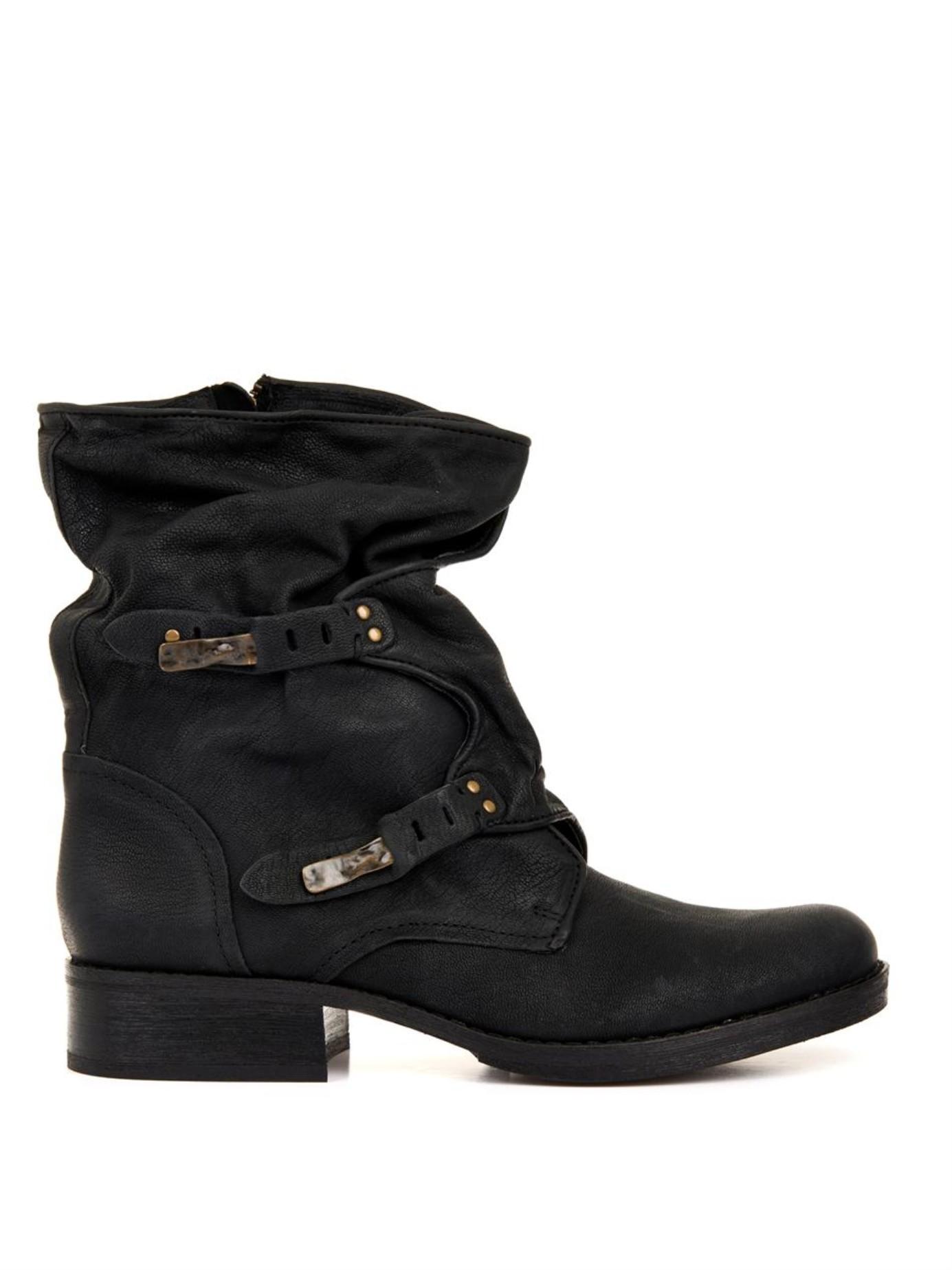 sam edelman ridge leather boots in black lyst