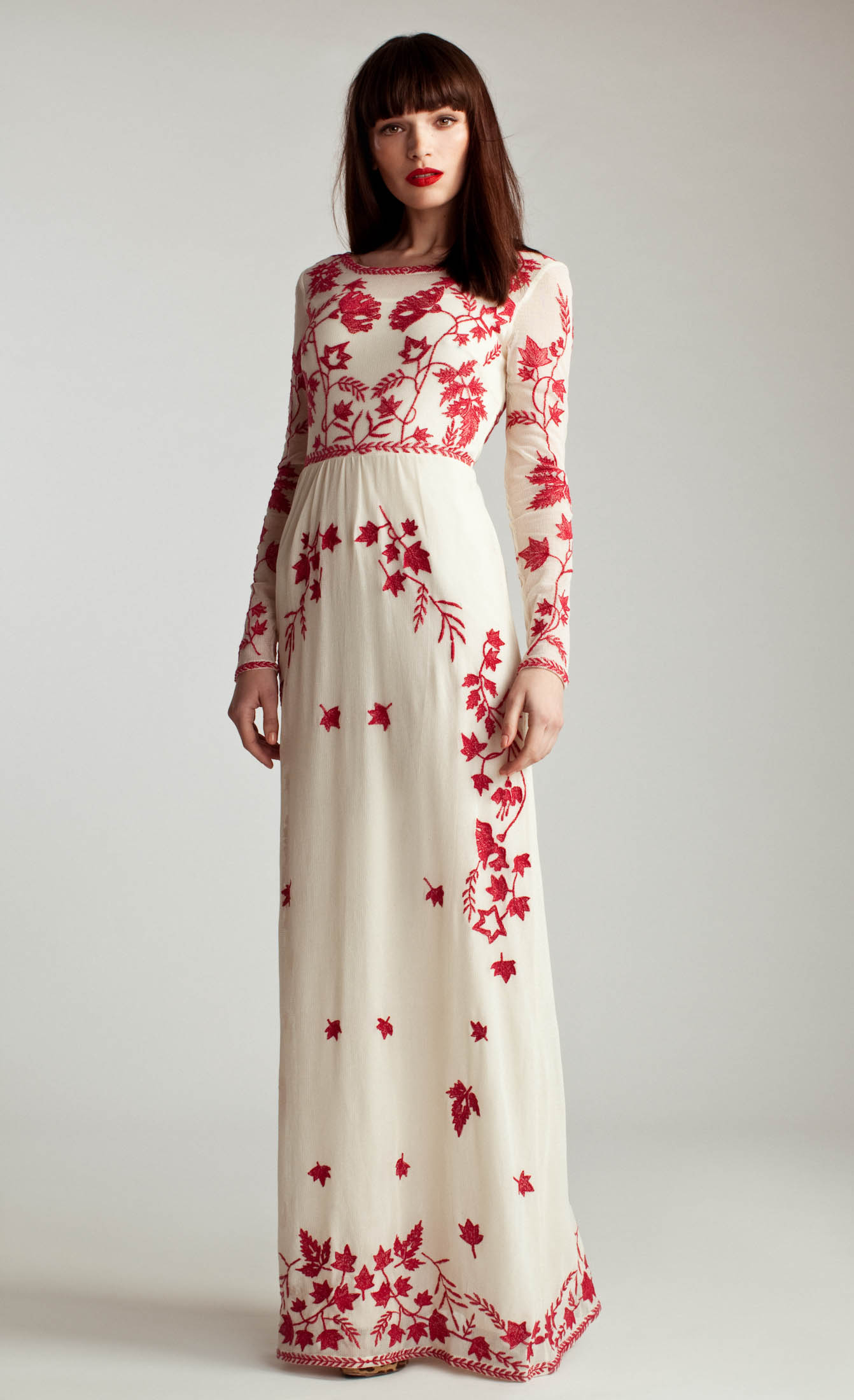Lyst - Alice By Temperley Long Clover Dress in Red