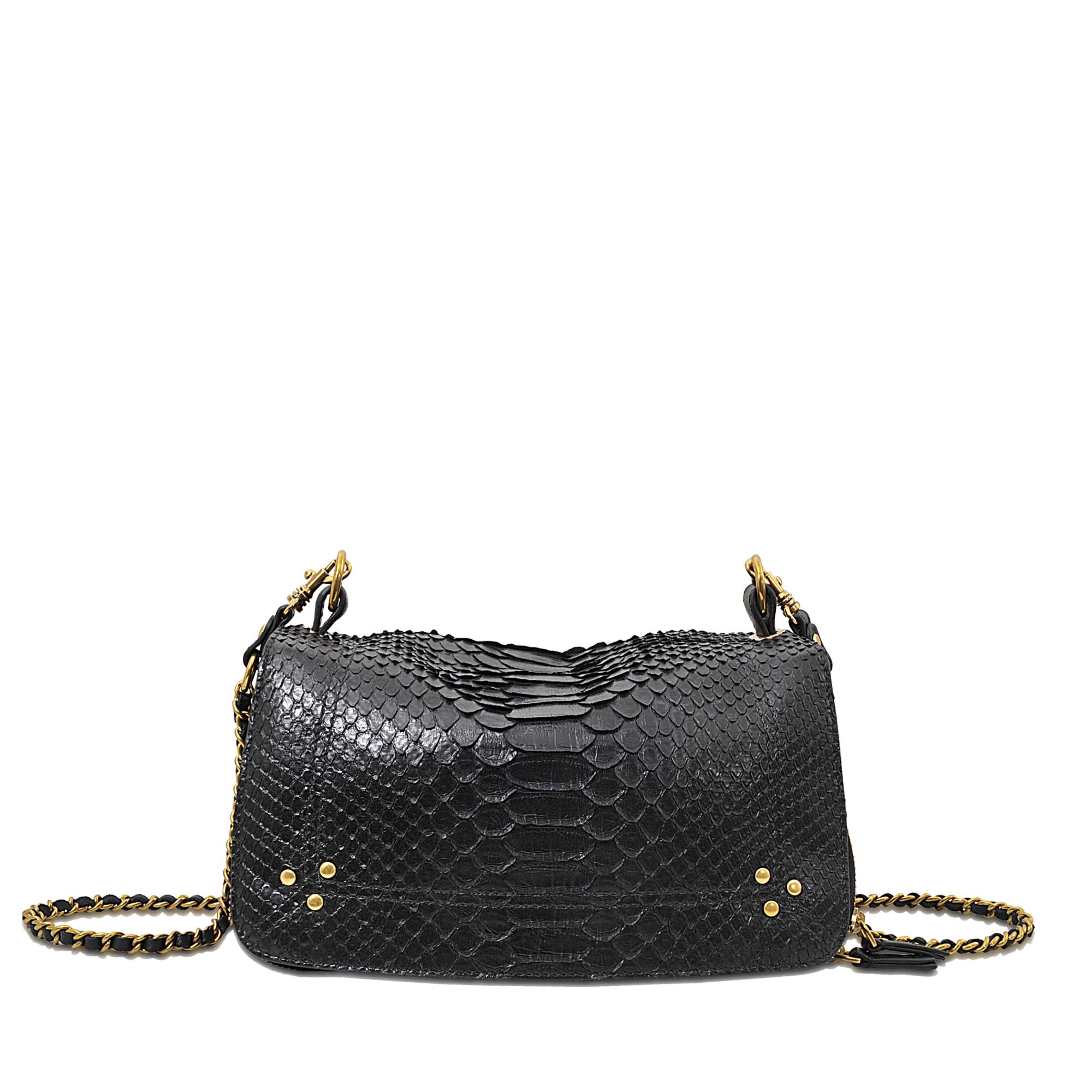 Jrme Dreyfuss Bobi Python Shoulder Bag In Black Lyst