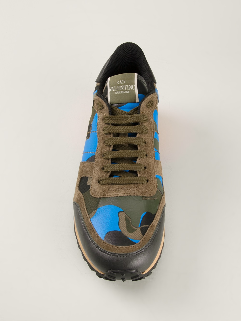 d962d59ae346 Green Men In Lyst Valentino For Rockstud Sneakers nxqw18C7