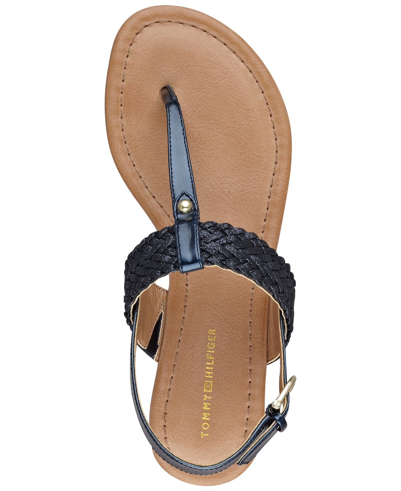 Lyst - Tommy Hilfiger Women'S Saycn Flat Thong Sandals in Blue
