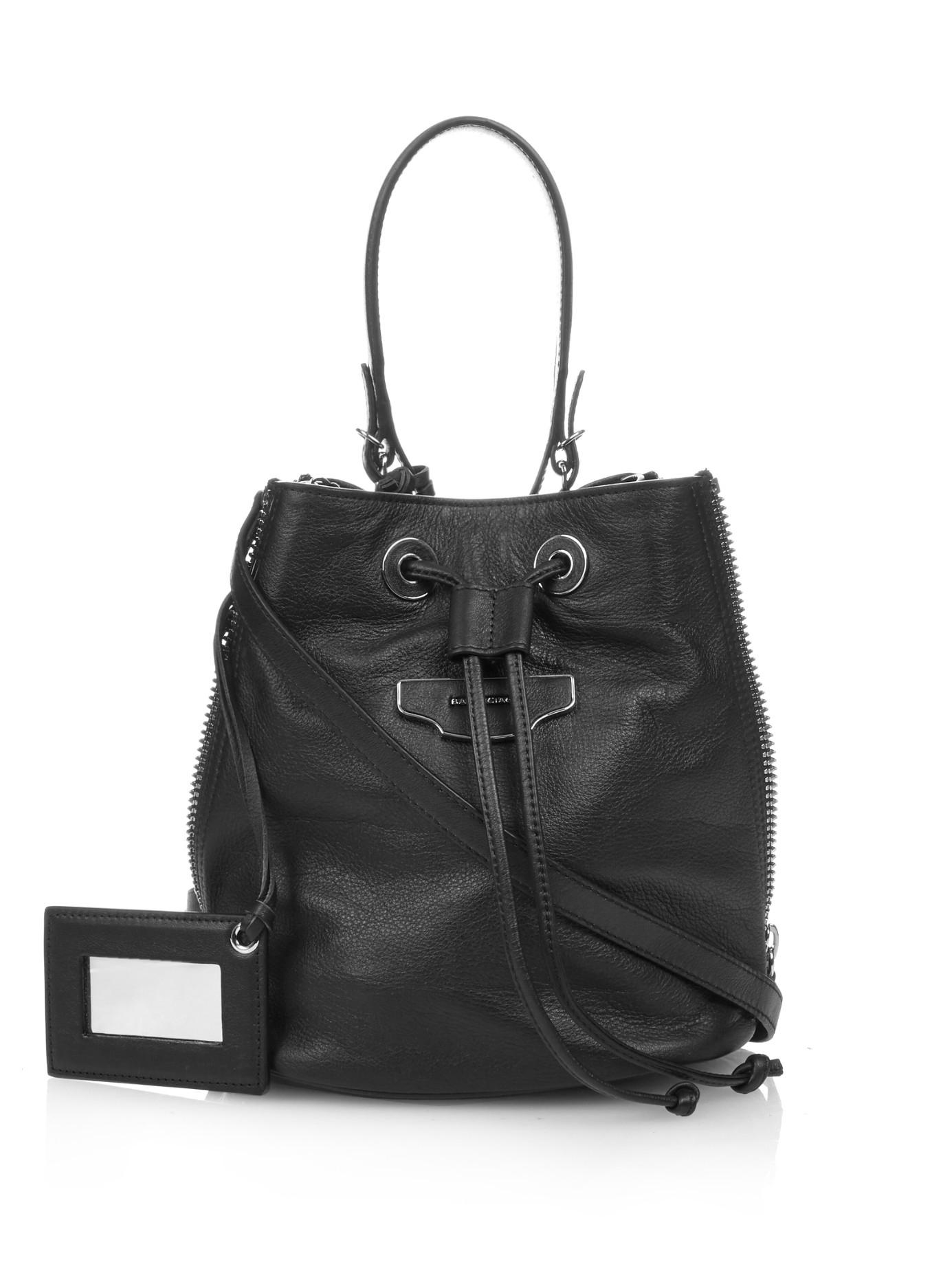 Lyst - Balenciaga Papier Plate Leather Cross-body Bucket Bag in Black bb8549118d147