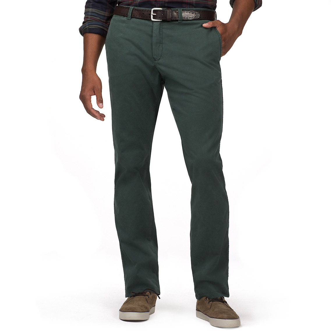 tommy hilfiger hilfiger straight fit chino in green for. Black Bedroom Furniture Sets. Home Design Ideas