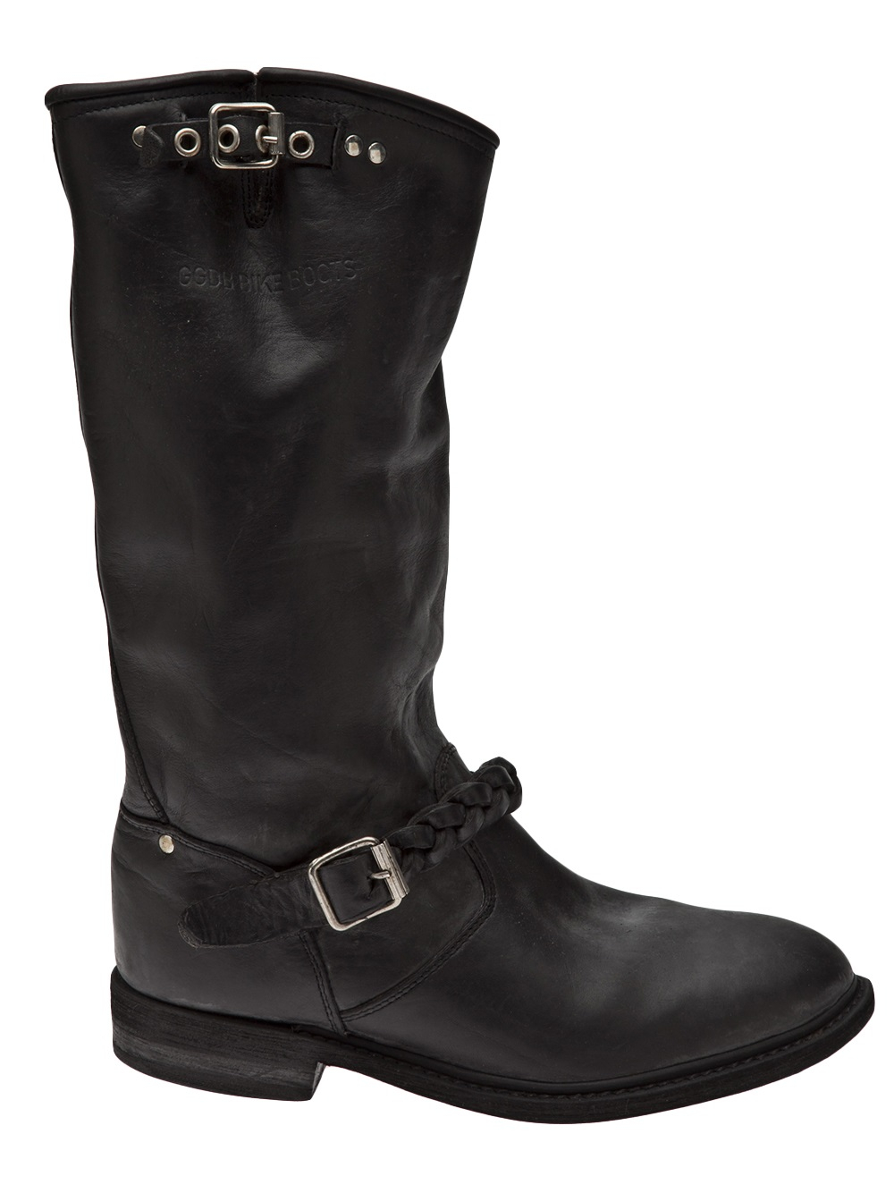 golden goose deluxe brand biker boots in black lyst. Black Bedroom Furniture Sets. Home Design Ideas