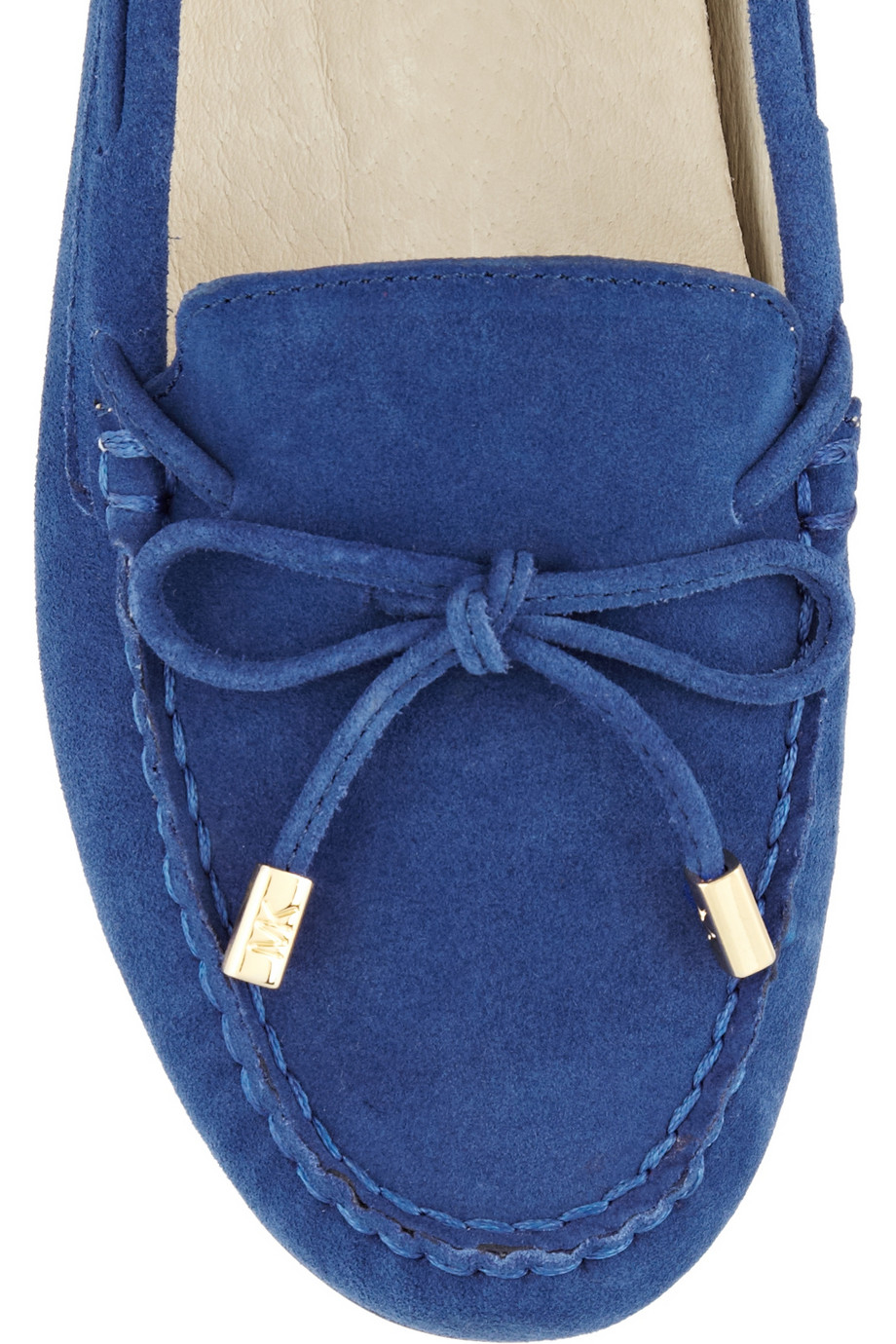 Lyst Michael Michael Kors Daisy Suede Moccasins In Blue