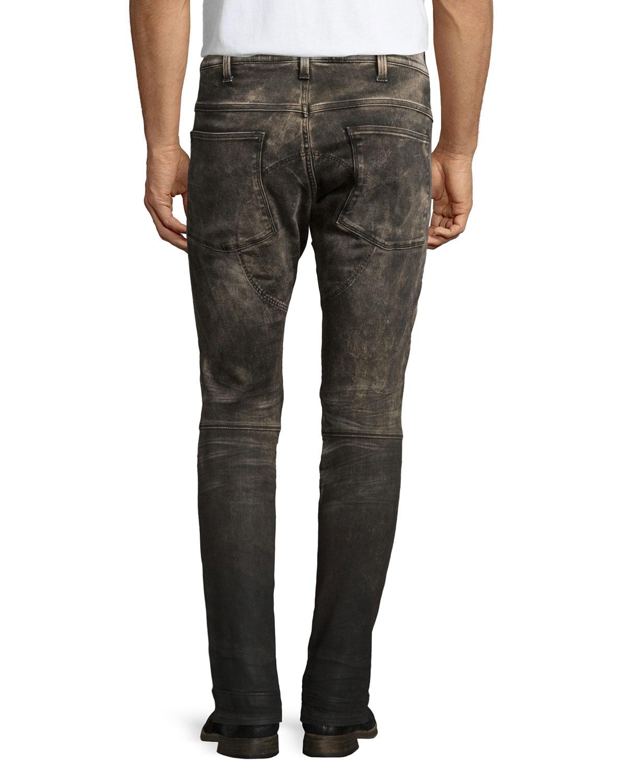 g star raw 3301 slim fit restored denim jeans in black for. Black Bedroom Furniture Sets. Home Design Ideas