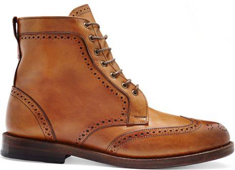 Allen Edmonds Dalton Wingtip Boots In Brown For Men